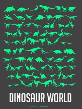 Dinosaur Poster Green by NaxArt
