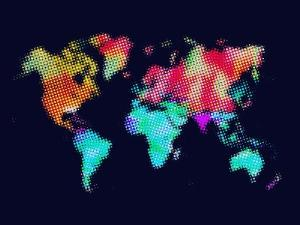 Dotted World Map 5 by NaxArt