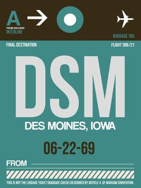 DSM Des Moines Luggage Tag II by NaxArt