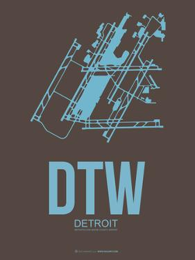 Dtw Detroit Poster 1 by NaxArt