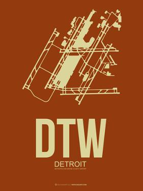 Dtw Detroit Poster 2 by NaxArt
