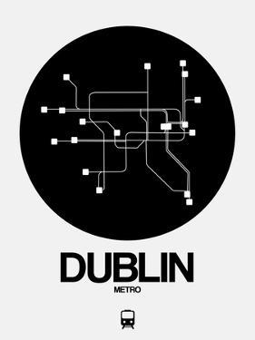 Dublin Black Subway Map by NaxArt