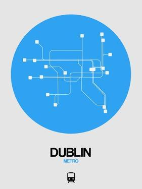 Dublin Blue Subway Map by NaxArt