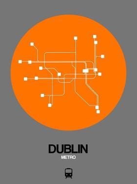 Dublin Orange Subway Map by NaxArt