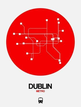 Dublin Red Subway Map by NaxArt