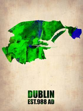 Dublin Watercolor Map by NaxArt