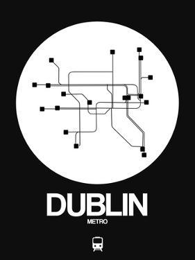 Dublin White Subway Map by NaxArt