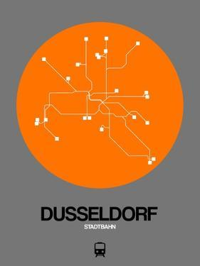 Dusseldorf Orange Subway Map by NaxArt