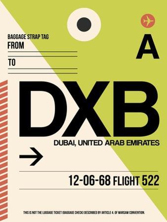 DXB Dubai Luggage Tag I by NaxArt