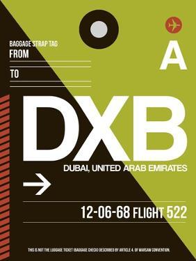 DXB Dubai Luggage Tag II by NaxArt