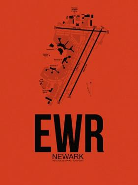 EWR Newark Airport Orange by NaxArt