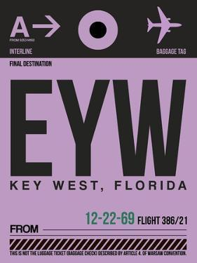 EYW Key West Luggage Tag I by NaxArt