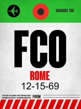 FCO Rome Luggage Tag 1 by NaxArt