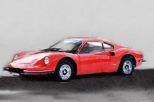 Ferrari Dino 246 GT Watercolor by NaxArt