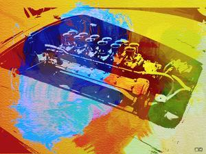Ferrari Engine Watercolor by NaxArt