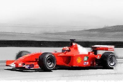 Ferrari F1 Laguna Seca Watercolor by NaxArt