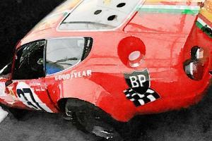 Ferrari Reear Detail Watercolor by NaxArt