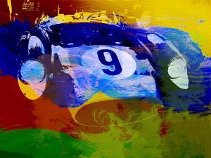 Ferrari Testarossa Watercolor by NaxArt