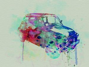 Fiat 500 Watercolor by NaxArt
