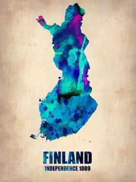 Finland Watercolor Poster by NaxArt