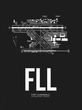 FLL Fort Lauderdale Airport Black by NaxArt