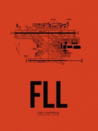 FLL Fort Lauderdale Airport Orange by NaxArt
