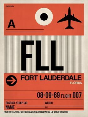 FLL Fort Lauderdale Luggage Tag I by NaxArt