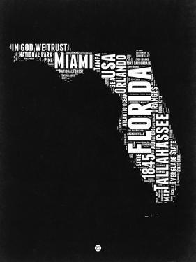 Florida Black and White Map by NaxArt