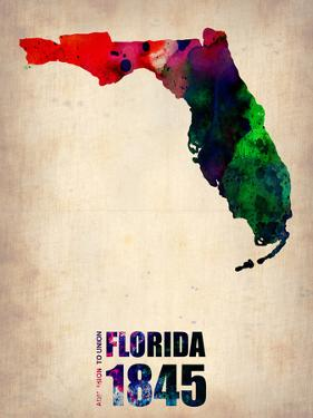 Florida Watercolor Map by NaxArt
