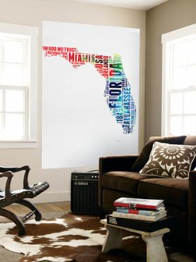 Florida Watercolor Word Cloud by NaxArt