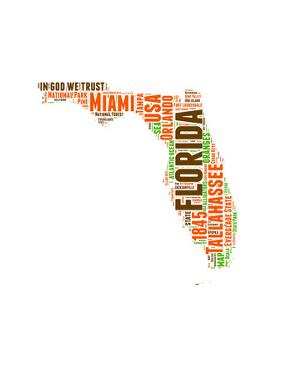 Florida Word Cloud Map by NaxArt