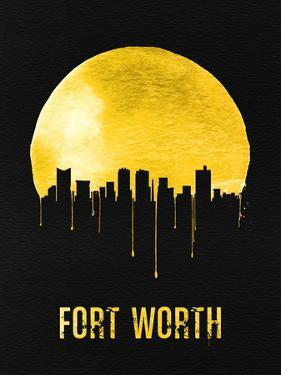 Fort Worth Skyline Yellow by NaxArt