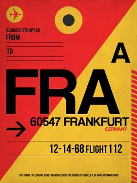 FRA Frankfurt Luggage Tag 2 by NaxArt