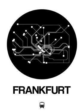 Frankfurt Black Subway Map by NaxArt