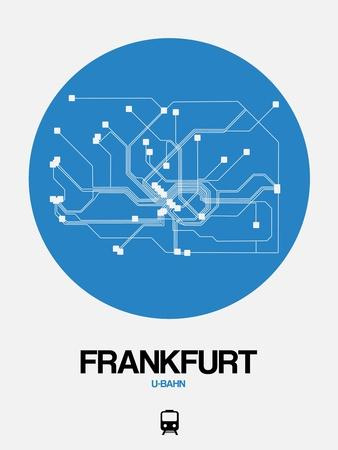 Frankfurt Blue Subway Map