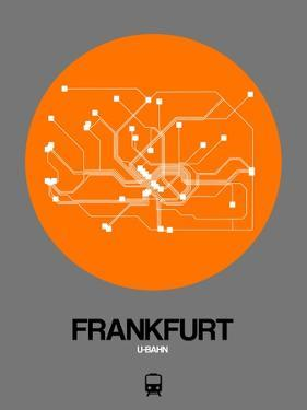 Frankfurt Orange Subway Map by NaxArt