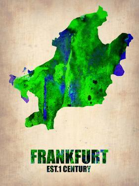 Frankfurt Watercolor Poster by NaxArt