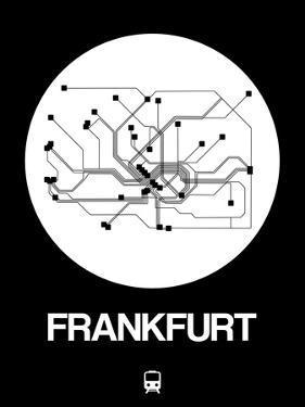 Frankfurt White Subway Map by NaxArt
