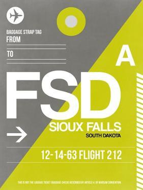 FSD Sioux Falls Luggage Tag II by NaxArt