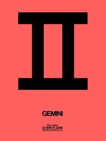 Gemini Zodiac Sign Black by NaxArt