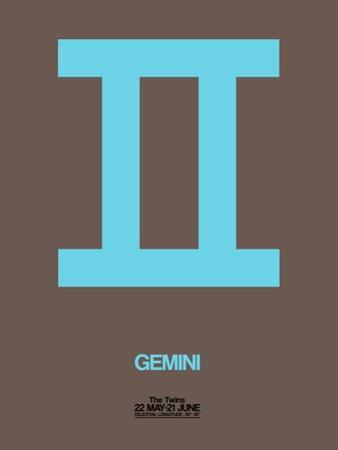 Gemini Zodiac Sign Blue by NaxArt
