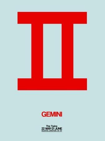 Gemini Zodiac Sign Red by NaxArt
