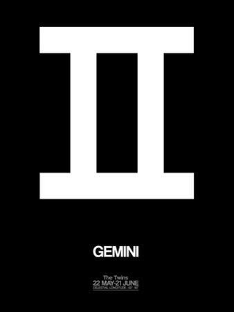 Gemini Zodiac Sign White by NaxArt