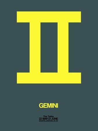 Gemini Zodiac Sign Yellow by NaxArt