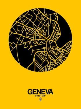 Geneva Street Map Yellow by NaxArt