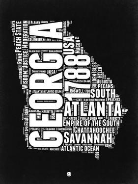 Georgia Black and White Map by NaxArt