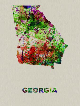 Georgia Color Splatter Map by NaxArt