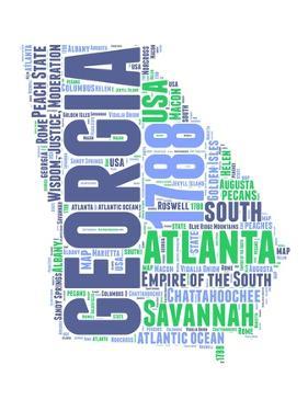 Georgia Word Cloud Map by NaxArt