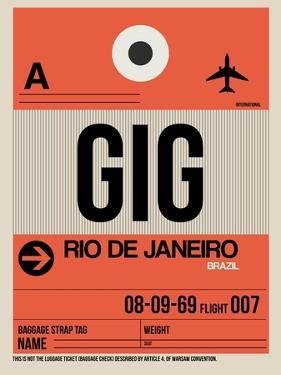 GIG Rio De Janeiro Luggage Tag 2 by NaxArt