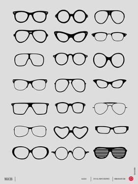 Glasses Poster I by NaxArt
